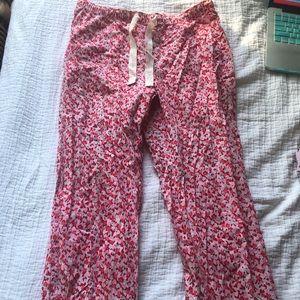 Pajama Floral Print Pants